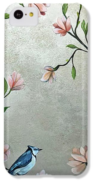 Humming Bird iPhone 5c Case - Chinoiserie - Magnolias And Birds by Shadia Derbyshire