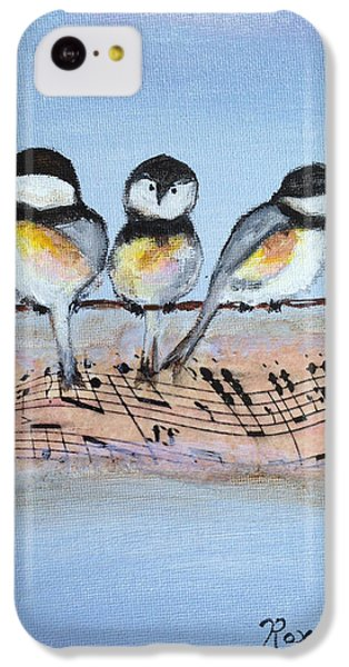 Chirpy Chickadees IPhone 5c Case by Roxy Rich