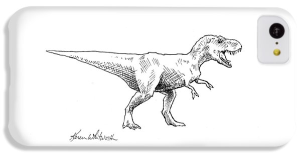 Tyrannosaurus Rex Dinosaur T-rex Ink Drawing Illustration IPhone 5c Case