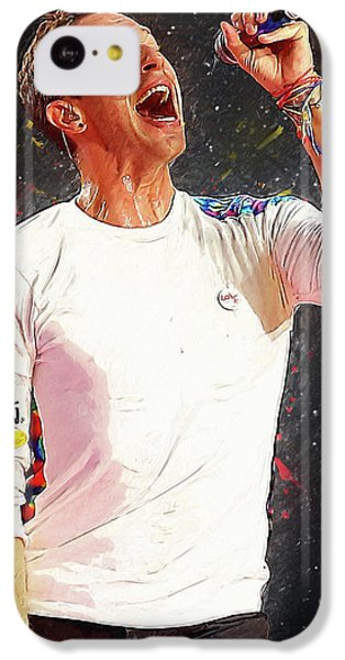 Chris Martin - Coldplay IPhone 5c Case by Semih Yurdabak
