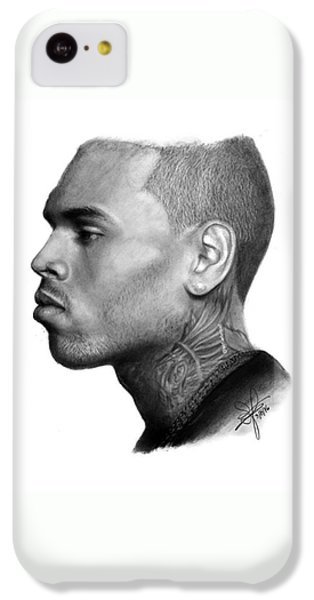 Chris Brown Drawing By Sofia Furniel IPhone 5c Case