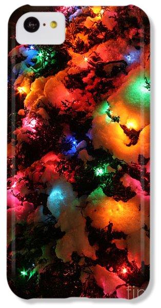 Coldplay iPhone 5c Case - Christmas Lights Coldplay by Wayne Moran