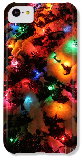 Christmas Lights Coldplay IPhone 5c Case by Wayne Moran
