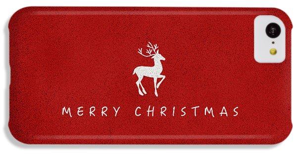 Deer iPhone 5c Case - Christmas Series Christmas Deer by Kathleen Wong