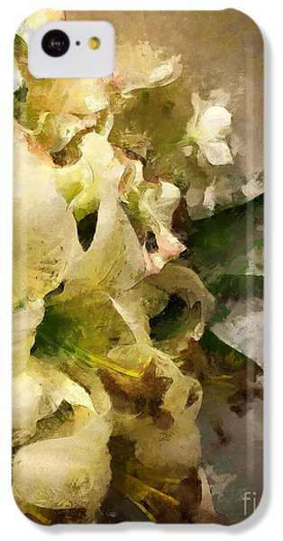 Christmas White Flowers IPhone 5c Case