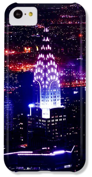 Chrysler Building At Night IPhone 5c Case by Az Jackson