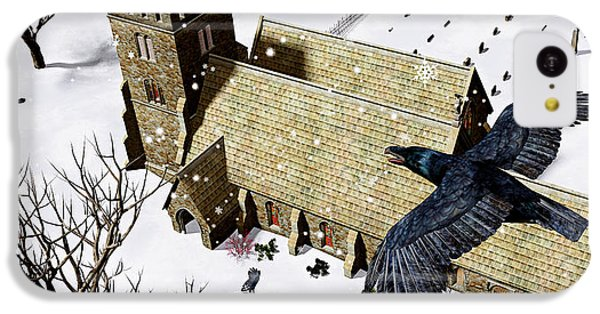 Church Ravens IPhone 5c Case by Peter J Sucy