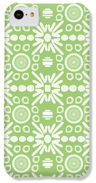 Repeat iPhone 5c Case - Cilantro- Green And White Art By Linda Woods by Linda Woods