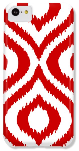 Circle And Oval Ikat In White T02-p0100 IPhone 5c Case