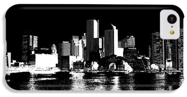 City Of Boston Skyline   IPhone 5c Case by Enki Art