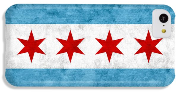 IPhone 5c Case featuring the mixed media City Of Chicago Flag by Christopher Arndt
