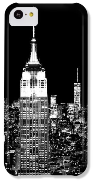 Empire State Building iPhone 5c Case - City Of The Night by Az Jackson