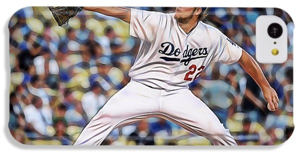 Clayton Kershaw Baseball IPhone 5c Case by Marvin Blaine