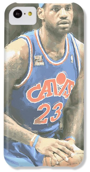Lebron James iPhone 5c Case - Cleveland Cavaliers Lebron James 1 by Joe Hamilton