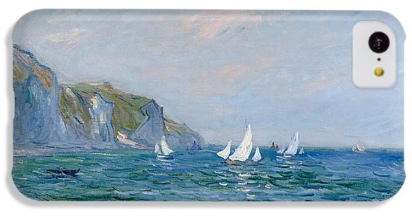 Impressionism iPhone 5c Case - Cliffs And Sailboats At Pourville  by Claude Monet