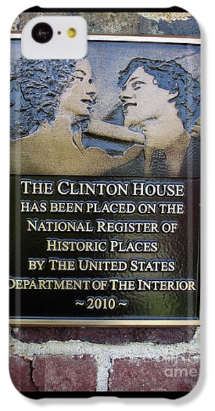 Clinton House Museum 2 IPhone 5c Case by Randall Weidner