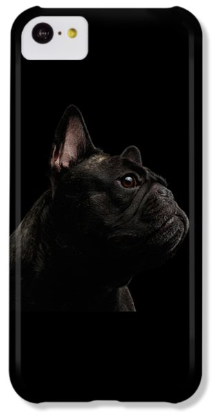 Dog iPhone 5c Case - Close-up French Bulldog Dog Like Monster In Profile View Isolated by Sergey Taran