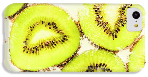 Close Up Of Kiwi Slices IPhone 5c Case by Jorgo Photography - Wall Art Gallery