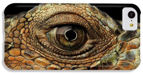 Closeup Eye Of Green Iguana, Looks Like A Dragon IPhone 5c Case