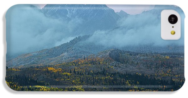 IPhone 5c Case featuring the photograph Cloudy Peaks by Aaron Spong