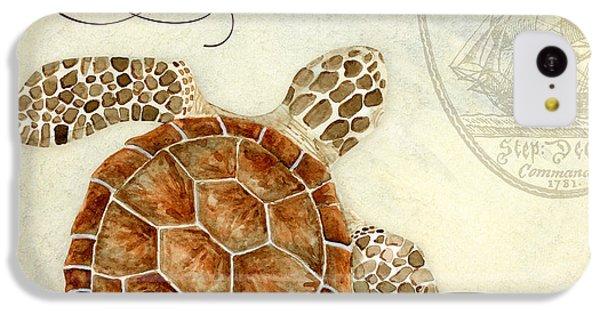 Turtle iPhone 5c Case - Coastal Waterways - Green Sea Turtle 2 by Audrey Jeanne Roberts