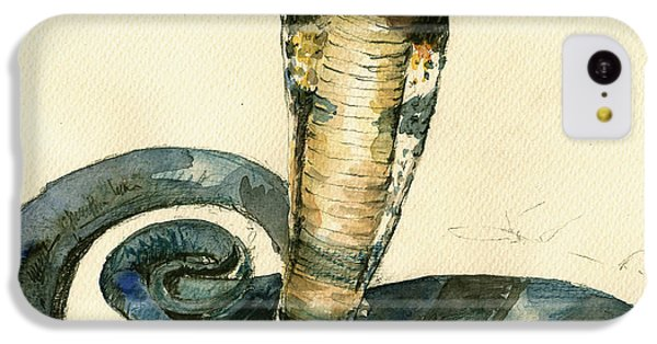 Cobra Snake Watercolor Painting Art Wall IPhone 5c Case by Juan  Bosco