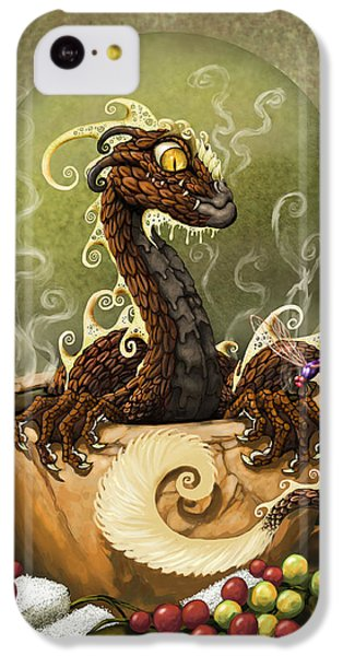 Dragon iPhone 5c Case - Coffee Dragon by Stanley Morrison