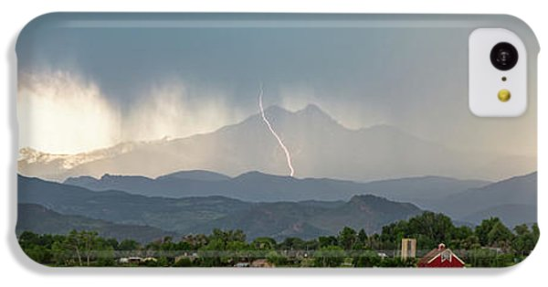 IPhone 5c Case featuring the photograph Colorado Front Range Lightning And Rain Panorama View by James BO Insogna