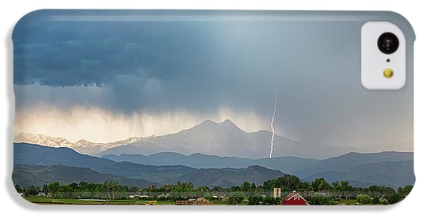 IPhone 5c Case featuring the photograph Colorado Rocky Mountain Red Barn Country Storm by James BO Insogna