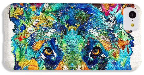 Dog iPhone 5c Case - Colorful German Shepherd Dog Art By Sharon Cummings by Sharon Cummings