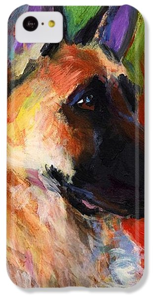 Colorful German Shepherd Painting By IPhone 5c Case