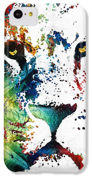 Colorful Lion Art By Sharon Cummings IPhone 5c Case