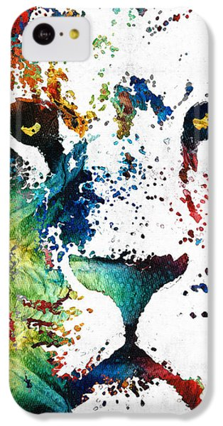 Colorful Lion Art By Sharon Cummings IPhone 5c Case by Sharon Cummings
