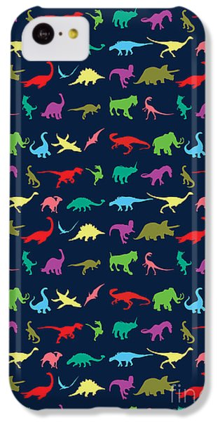 Colorful Mini Dinosaur IPhone 5c Case by Naviblue