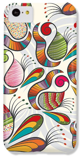 Colorful Paisley Pattern IPhone 5c Case