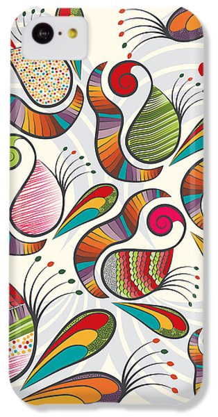 Colorful Paisley Pattern IPhone 5c Case by Famenxt DB