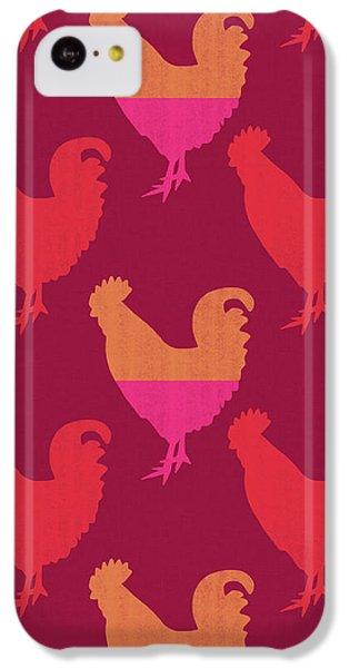 Colorful Roosters- Art By Linda Woods IPhone 5c Case by Linda Woods