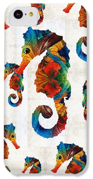 Colorful Seahorse Collage Art By Sharon Cummings IPhone 5c Case