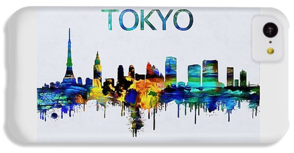 Colorful Tokyo Skyline Silhouette IPhone 5c Case