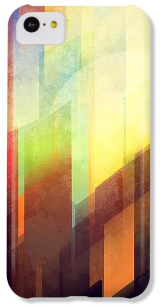 City Sunset iPhone 5c Case - Colorful Urban Design by Thubakabra