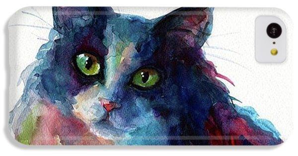 Colorful Watercolor Cat By Svetlana IPhone 5c Case