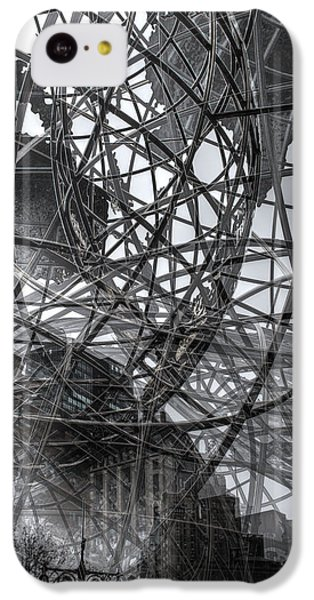 IPhone 5c Case featuring the photograph New York - Columbus Circle Globe -  Collage by Dave Beckerman