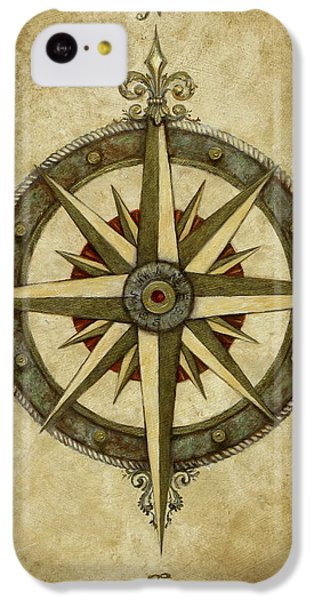 Rose iPhone 5c Case - Compass Rose by Judy Merrell