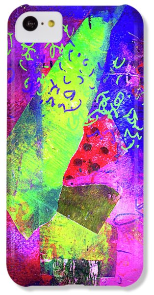 IPhone 5c Case featuring the mixed media Confetti by Nancy Merkle