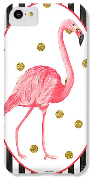 Contemporary Flamingos 2 IPhone 5c Case by Debbie DeWitt