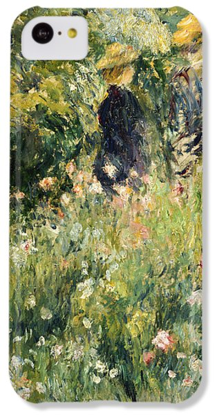 Conversation In A Rose Garden IPhone 5c Case by Pierre Auguste Renoir