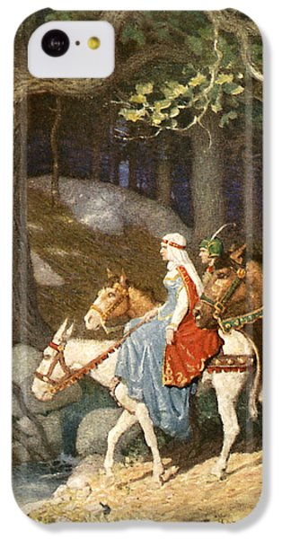 Country Folk Wending Their Way To The Tourney IPhone 5c Case by Newell Convers Wyeth