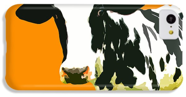 Cow iPhone 5c Case - Cow In Orange World by Peter Oconor