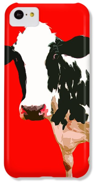 Cow iPhone 5c Case - Cow In Red World by Peter Oconor