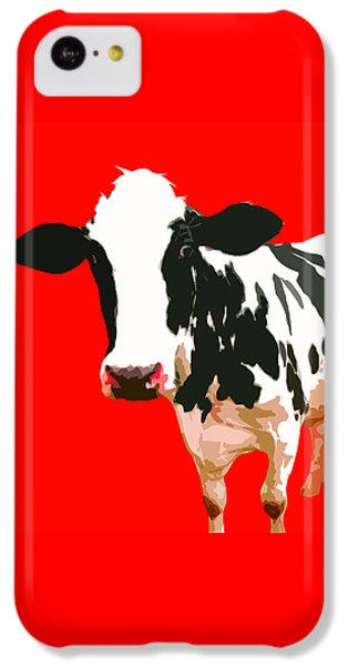 Cow In Red World IPhone 5c Case by Peter Oconor